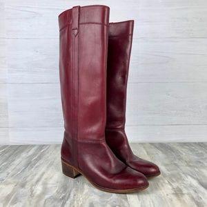 63bec886fb3 Vintage Nine West Louisa Riding Boots Leather Wine